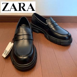 ZARA - zara マキシソールローファー