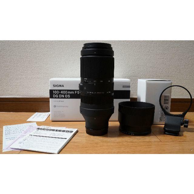 美品!SIGMA 100-400mm F5-6.3 DG DN OS ソニー用 スマホ/家電/カメラのカメラ(レンズ(ズーム))の商品写真