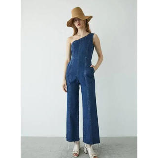 moussy - moussy ONE SHOULDER DENIM JUMP SUIT