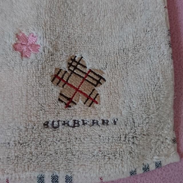 BURBERRY(バーバリー)の美品 バーバリー タオルハンカチ さくら レディースのファッション小物(ハンカチ)の商品写真