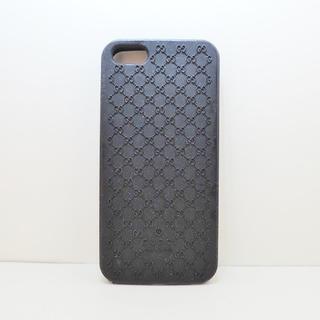 グッチ(Gucci)のグッチ 携帯電話ケース マイクロGG 黒(モバイルケース/カバー)