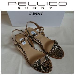 PELLICO - 20SS新品 ペリーコサニー 定番 サンダル パイソン 37 定価30250円