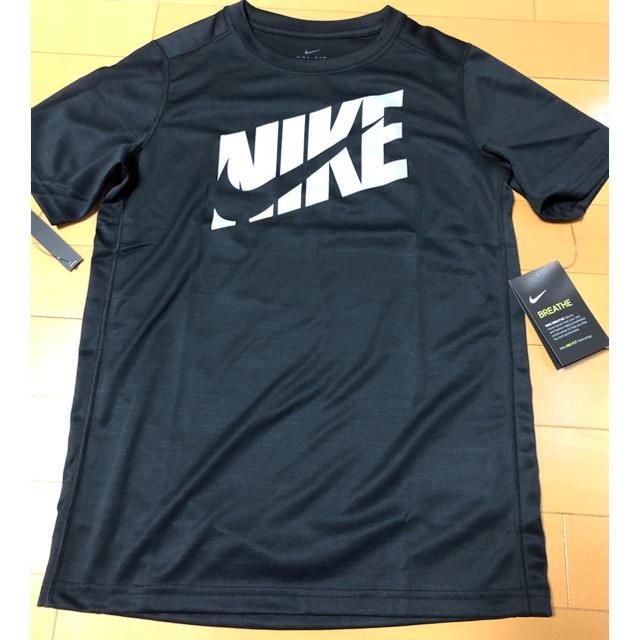 NIKE(ナイキ)の新品タグ付NIKETシャツナイキ160黒ブラック キッズ/ベビー/マタニティのキッズ服男の子用(90cm~)(Tシャツ/カットソー)の商品写真