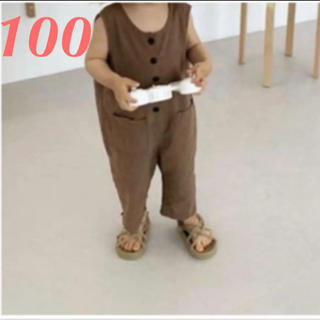ZARA KIDS - 韓国子供服 サロペット オールインワン ロンパース 100