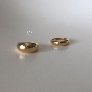 DEUXIEME CLASSE -  gold big ring  13号