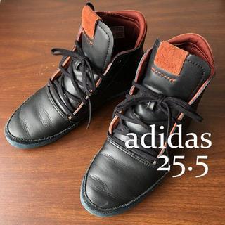 アディダス(adidas)のadidas ハーフブーツ 25.5/アディダスオリジナルス、黒×レンガ色(ブーツ)