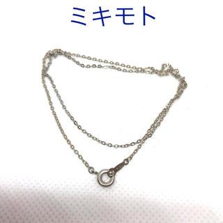 ミキモト(MIKIMOTO)のミキモト  チェーン ネックレス SV925(ネックレス)