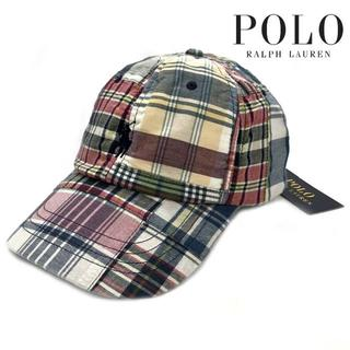 ポロラルフローレン(POLO RALPH LAUREN)のポロラルフローレン キャップ ポニー刺繍 男女兼用 チェック柄 180623(キャップ)