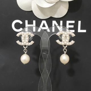 CHANEL - 正規品 シャネル ピアス パール ココマーク シルバー スイング 真珠 ロゴ 2