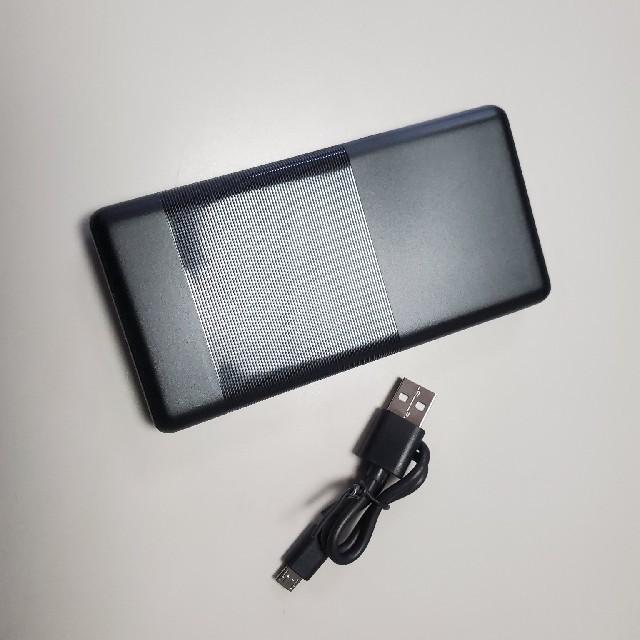 ネッククーラーneo ブラックモバイルバッテリー付き スマホ/家電/カメラの冷暖房/空調(エアコン)の商品写真