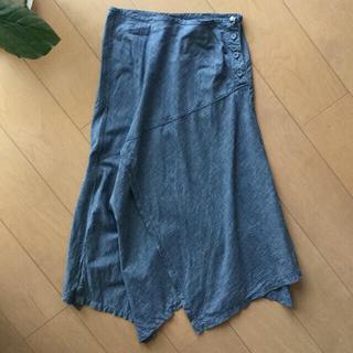 フォーティファイブアール(45R)の45R  インディゴロングスカート  サイズ1 ✨美品✨(ロングスカート)