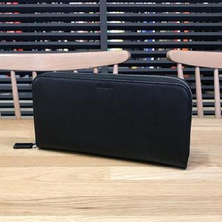 プラダ(PRADA)の超美品 プラダ 現行 ラウンドファスナー長財布 2ML317 黒(長財布)