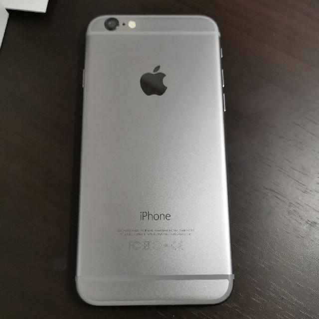 iPhone(アイフォーン)のiPhone6:128GB:softbank スマホ/家電/カメラのスマートフォン/携帯電話(スマートフォン本体)の商品写真