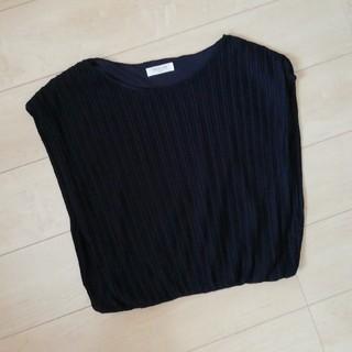 オフオン(OFUON)のOFUON トップス 黒 M(Tシャツ(半袖/袖なし))