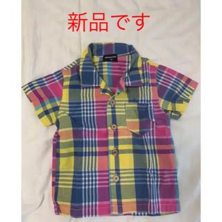 シマムラ(しまむら)のチェックシャツ 半袖 キッズ ベビー 80cm  新品 しまむら(シャツ/カットソー)