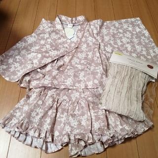 新品☆ テータテート  浴衣ドレス 110 ベージュ