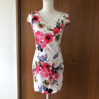 デイジーストア(dazzy store)のキャバドレス 花柄ワンピース(ミニドレス)