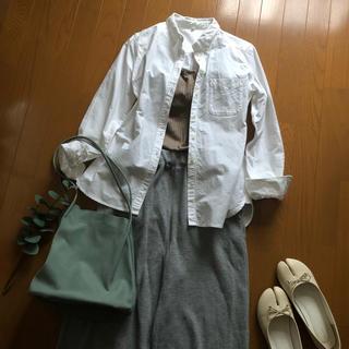 MUJI (無印良品) - 無印良品コットンボタンダウンシャツMUJI白シャツレディースMHLA.P.C