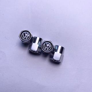 フォルクスワーゲン(Volkswagen)のVW フォルクスワーゲン メタル エアバルブ 4個セット(車外アクセサリ)
