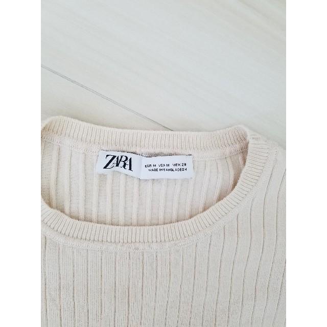 ZARA(ザラ)の完売 ZARA パフスリーブ カットソー 【M】 レディースのトップス(カットソー(半袖/袖なし))の商品写真
