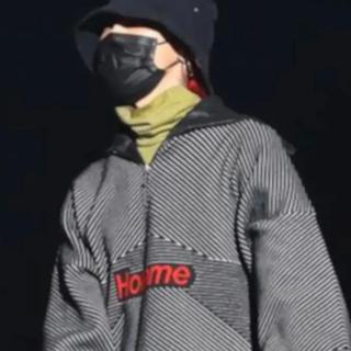 ピースマイナスワン(PEACEMINUSONE)のbalenciaga homme 18AW ハーフジップ g-dragon着用(ニット/セーター)