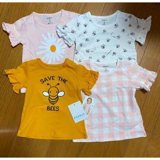コストコ(コストコ)の新品 90cm ★ コストコ PEKKLE ベビー Tシャツ 4枚 18M(Tシャツ/カットソー)