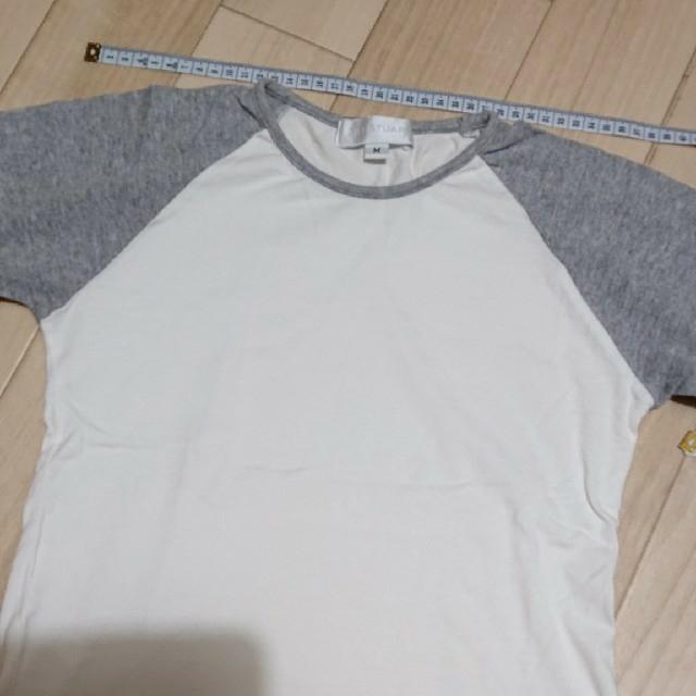 JILLSTUART(ジルスチュアート)のUSED/ジルスチュアート ラグランTシャツ 七分袖 レディースのトップス(Tシャツ(半袖/袖なし))の商品写真