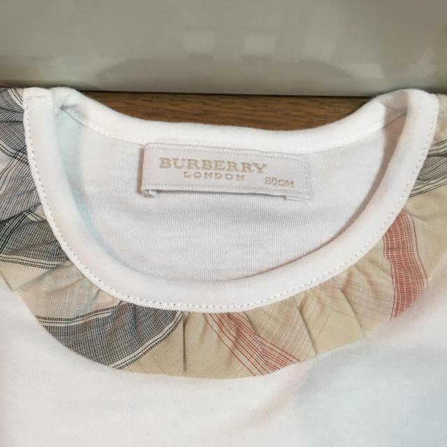 BURBERRY(バーバリー)の最終値下げ❣️新品!バーバリー ロンパース 80& スタイ セット キッズ/ベビー/マタニティのベビー服(~85cm)(ロンパース)の商品写真