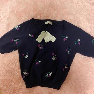 アンクルージュ(Ank Rouge)の花柄 ニット(Tシャツ/カットソー(半袖/袖なし))