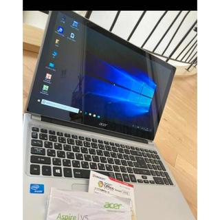 エイサー(Acer)の美品 エイサータッチパネル acer Aspire V5-531P-H14C/S(ノートPC)