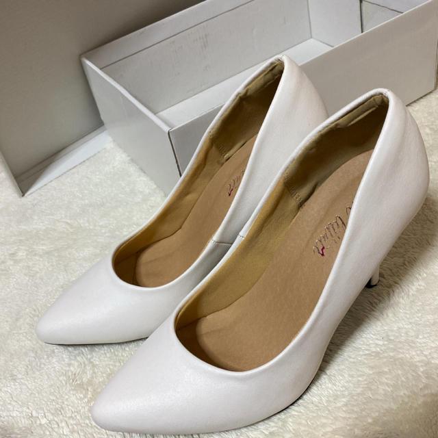 GYDA(ジェイダ)のヒール パンプス ホワイト レディースの靴/シューズ(ハイヒール/パンプス)の商品写真
