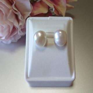 上品質  バロックパール   天然真珠  ピアス  約11-12mm