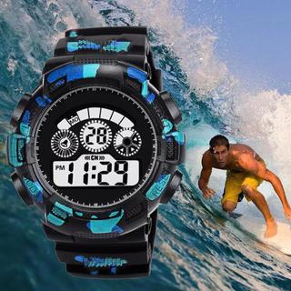 スポーツ腕時計 LED デジタル 腕時計 ミリタリー 耐久性 カモフラージュ(腕時計(デジタル))