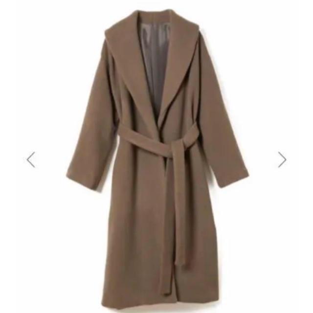 snidel(スナイデル)のCACHEC ショールカラー ガウン コート ブラウン レディースのジャケット/アウター(ロングコート)の商品写真