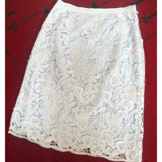 ANAYI - アナイ  レースタイトスカート 36  水色