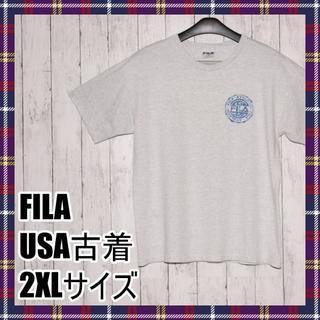 FILA - FILA フィラ Tシャツ USA古着 2XLサイズ ゆるダボ