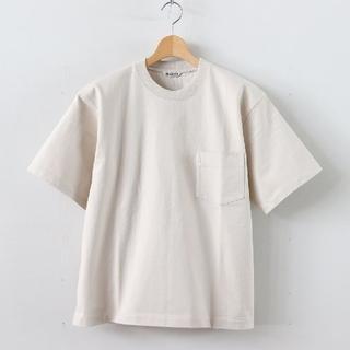 COMOLI - AURALEE stand-up T shirt