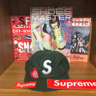 Supreme - Sロゴ cap