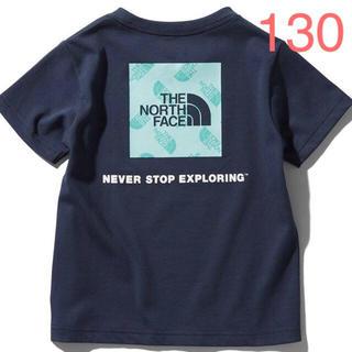THE NORTH FACE - ザノースフェイス  スクエアロゴグラフィックティー   アーバンネイビー 130