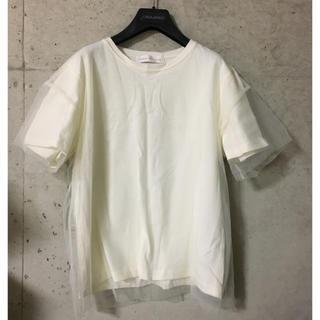 センスオブプレイスバイアーバンリサーチ(SENSE OF PLACE by URBAN RESEARCH)のTシャツ チュール  ホワイト アイボリー エクリュ (Tシャツ(長袖/七分))