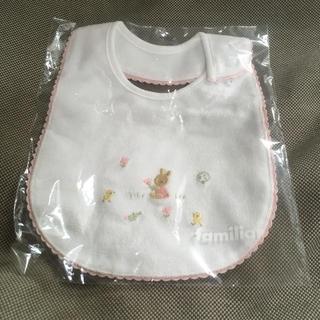familiar - 【新品未使用】ファミリア スタイ よだれかけ うさぎ ピンク