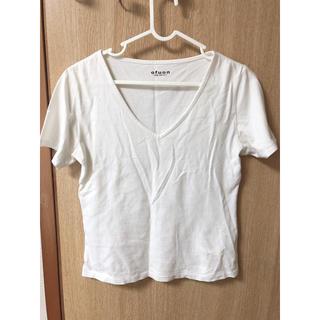 オフオン(OFUON)のofuon★Vネック 白Tシャツ(Tシャツ(半袖/袖なし))