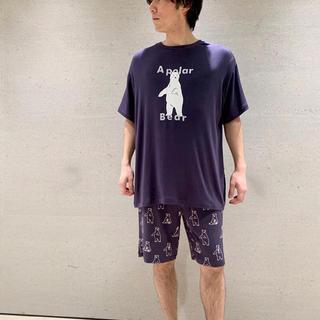 gelato pique - ジェラートピケHOMME新品シロクマTシャツ&ハーフパンツセット☆ネイビー☆L