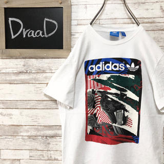 adidas - 【古着】adidas アディダス トレフォイル プリント Tシャツ M
