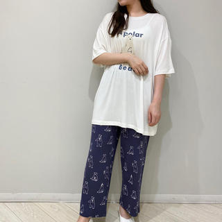 gelato pique - ジェラートピケ新品シロクマワンポイントTシャツ&ロングパンツセット☆ホワイト