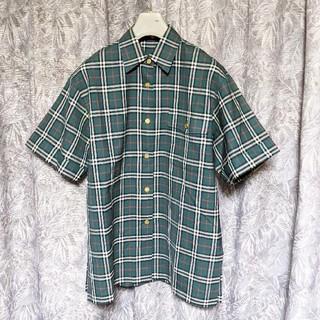 バーバリー(BURBERRY)のBurberrys金ボタンチェック柄シャツ(シャツ/ブラウス(半袖/袖なし))