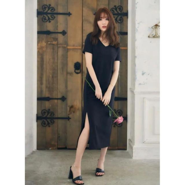 snidel(スナイデル)のherlipto  Relaxed T-Shirt Long Dress レディースのワンピース(ロングワンピース/マキシワンピース)の商品写真