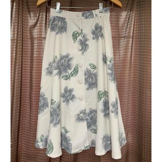 リズリサ(LIZ LISA)のリズリサ ミモレ丈 大花スカート フラワースカート(ロングスカート)