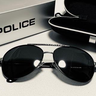 ポリス(POLICE)のサングラス POLICE ブラックxシルバー UVカット アウトドア(サングラス/メガネ)