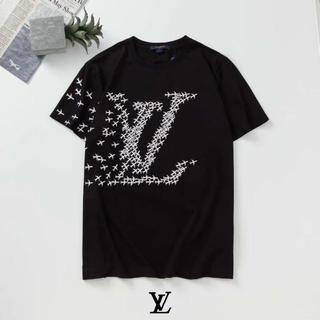 新品[2枚8000円送料込み]LV☆ルイヴィトンTシャツ半袖男女兼用652